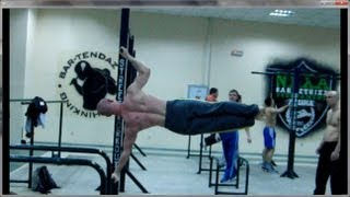 Street Workout - Human (side) Flag - (advanced level) with Alexander Borisov