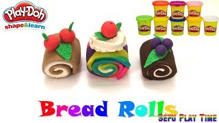 How to Make Roll Cake. Play Doh for Kids . DIY Kids Learn and Fun Activities