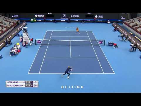 """That f**** b**** tried to hit me"" - Sloane Stephens vs Pavlyuchenkova"