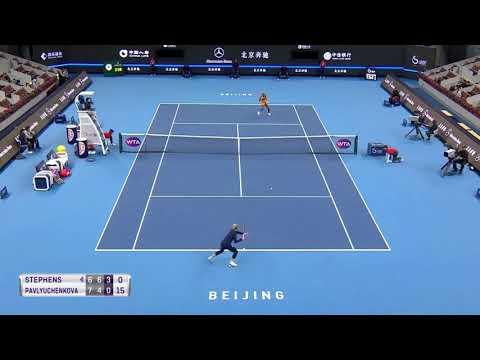 Match between Sloane Stephens and Anastasia Pavlyuchenkova turns ugly