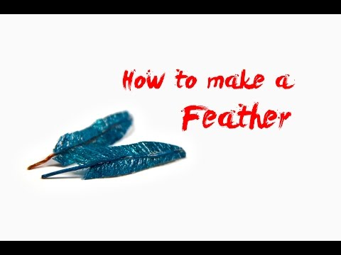 How to Make a POSABLE FEATHER - Beginner Tutorial