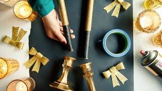 Metallic Candlesticks—in A Diy Jiffy!