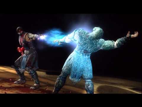 Mortal Kombat 9: Sub Zero Fatality : Spine Smash