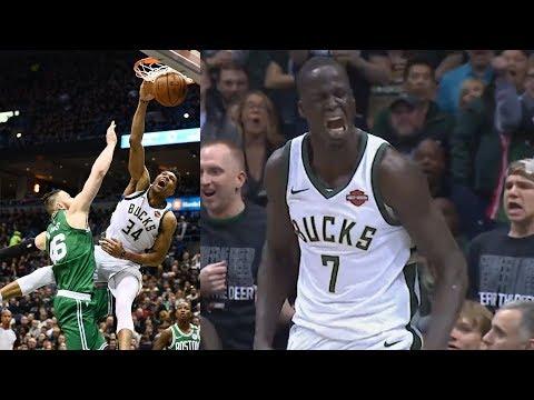 Giannis Dunks on Baynes! Thon Maker 5 Blocks Game 3! 2018 NBA Playoffs