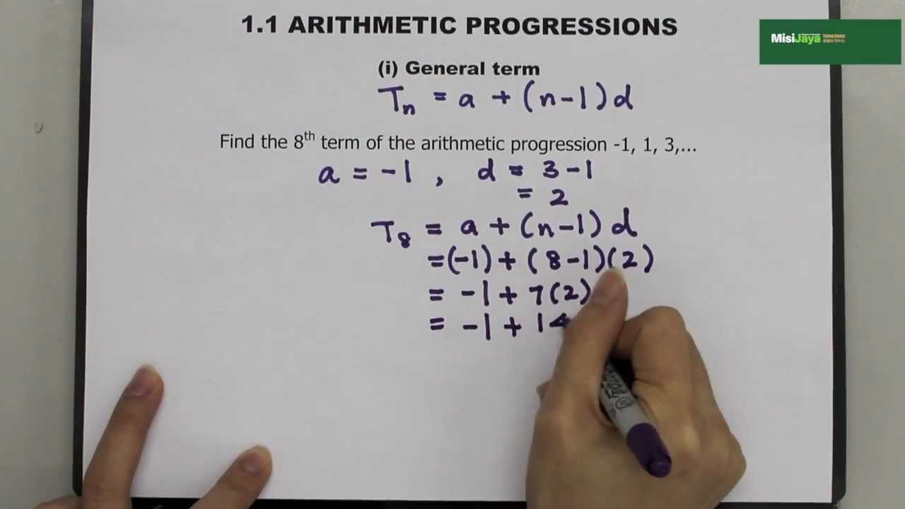 Form 5 Additional Mathematics Chapter 1 Progressions - YouTube