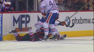 Gotta See It: Gryba & Schenn drop gloves after another hit on Chychrun