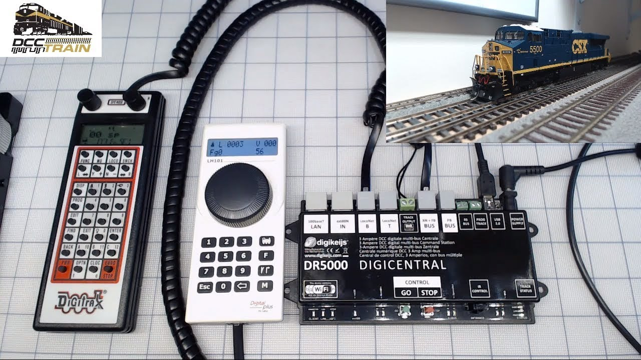Digikeijs DR5000 Digital Railway Central Command Station Part 1 hardwired  connection Digitrax Lenz