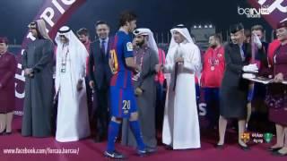 تتويج برشلونة بطلاً لكأس الأبطال الودية لطيران قطر، بعد فوزه على الأهلي السعودي (2016/12/13)