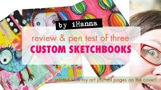 Notebook Review   CUSTOM MADE Sketchbook by BOOKBLOCK [pen test & trial run]