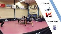 LA FERRIERE VS BORDEAUX CAM | NATIONALE 2 |TENNIS DE TABLE |HIGHLIGHTS