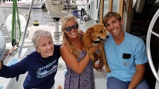 GRANDPARENTS REACTION TO OUR LIVEABOARD BOAT!!