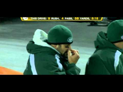 Mark Sanchez wipes a booger on Mark Brunell HD