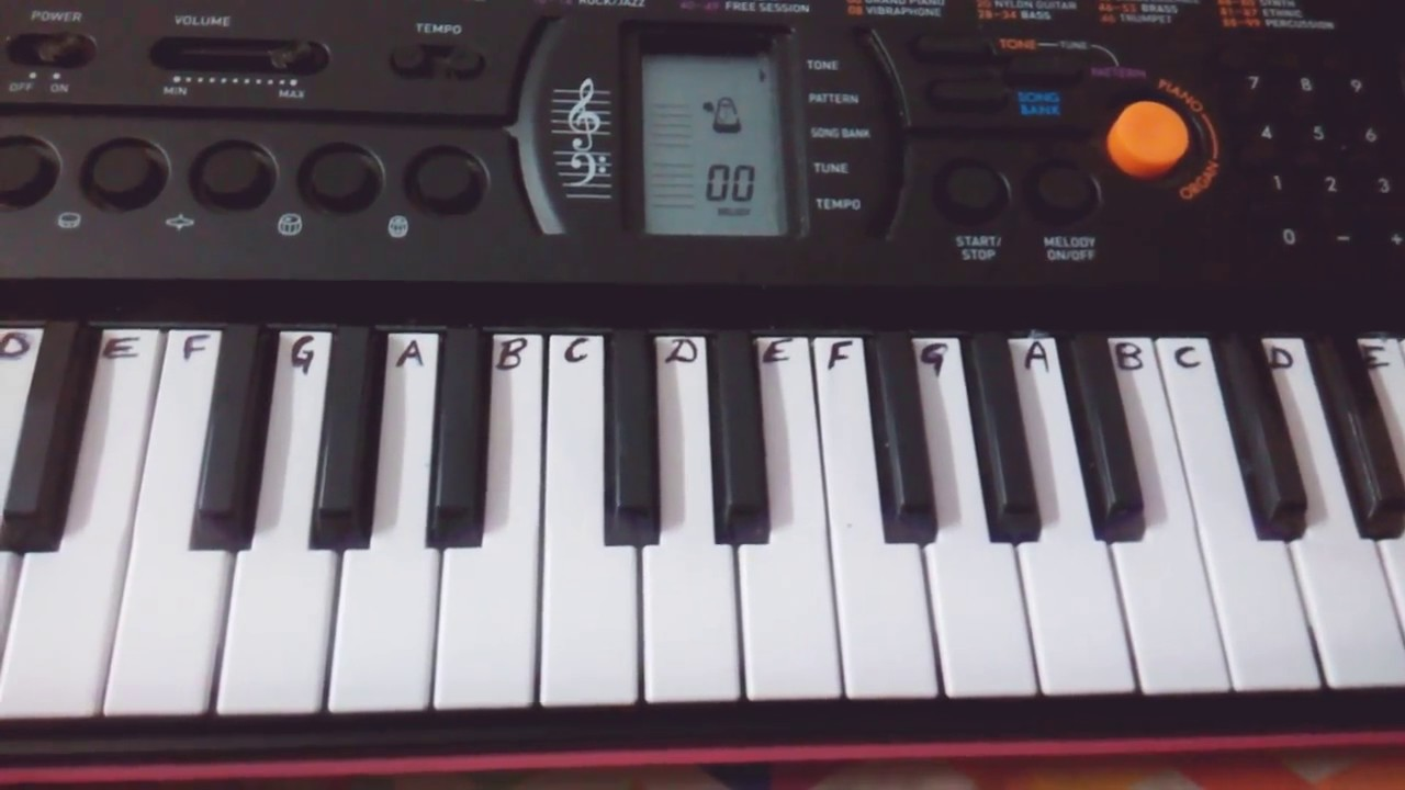 how to play shape of you on keyboard notes