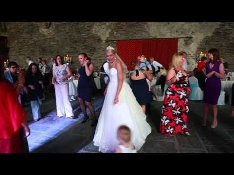 Wedding of Rachel and Craig Caerphilly Castle