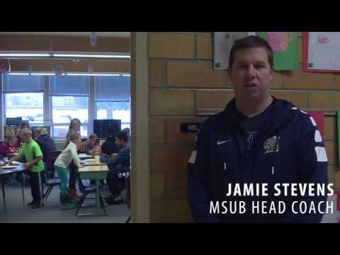 MSUB Men's Basketball Visits Boulder Elementary School 12/15/16