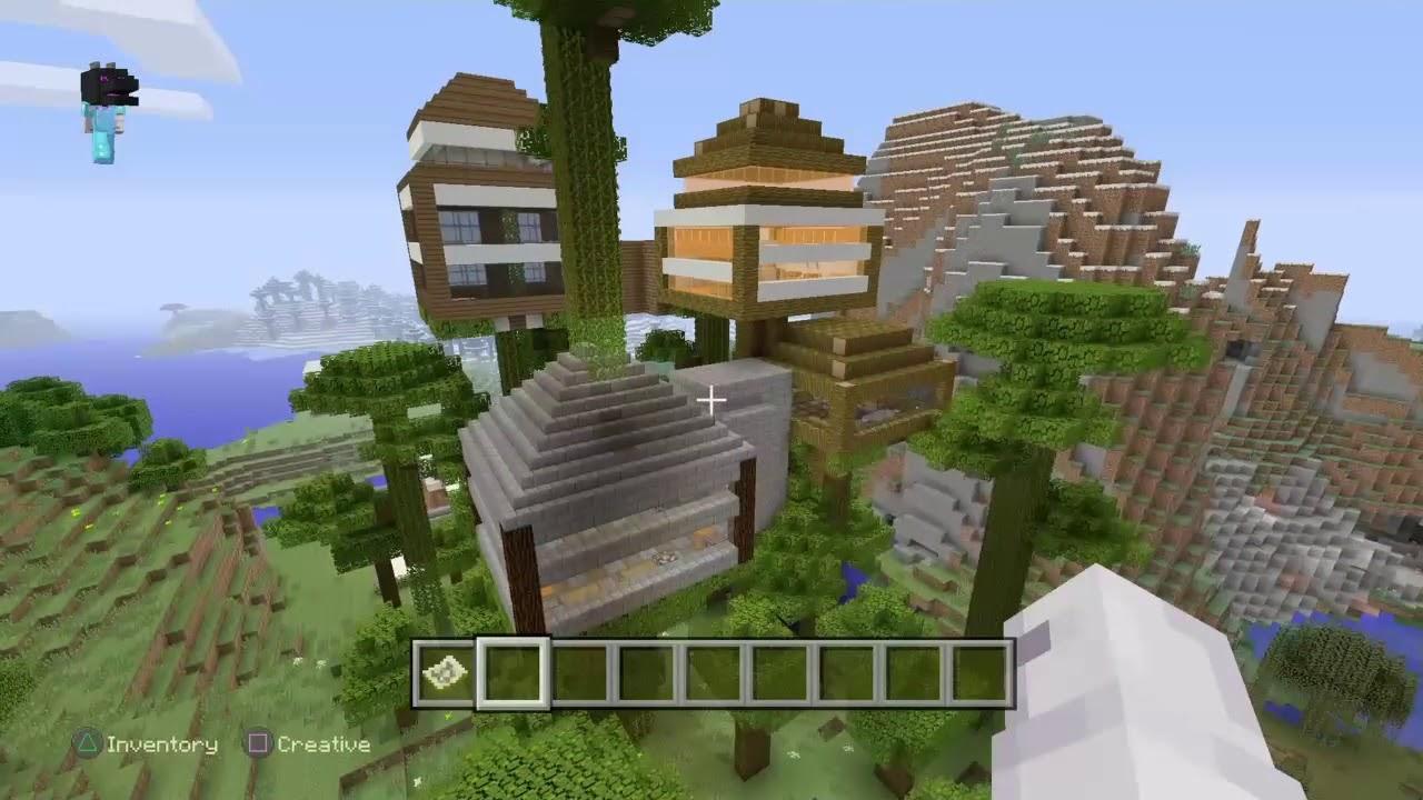 Insane Tree Houses insane minecraft tree houses - youtube