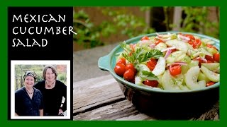 a simple mexican inspired cucumber salad tasty enough to share with friends
