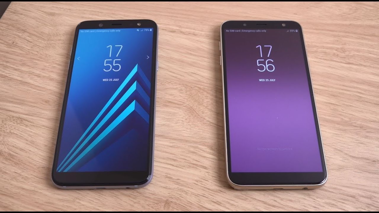 Samsung Galaxy A6 2018 Vs J6 2018 Speed Test Youtube