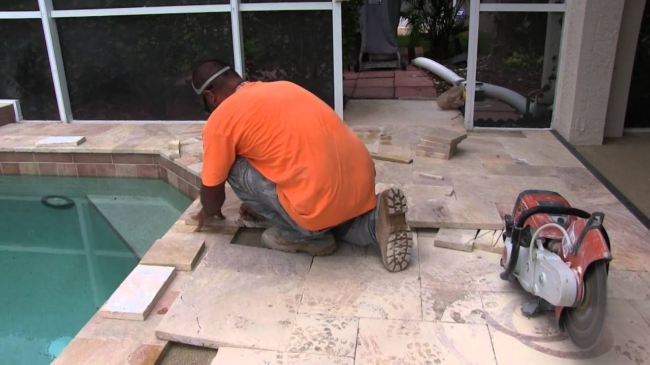 Travertine pool deck installation youtube travertine pool deck installation dailygadgetfo Choice Image