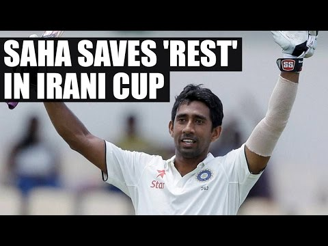 Wriddhiman Saha's attacking century saves Rest of India in Irani cup   Oneindia News