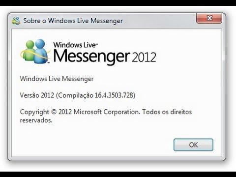 como instalar o msn 2012 msn plus no windows 10 vídeo 17 07 2016