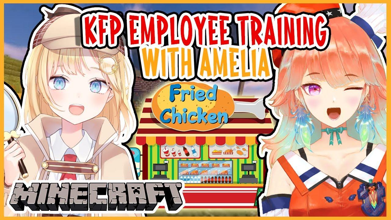 "【AMELIAxKIARA】KFP Employee ""Training"" 【Minecraft】"