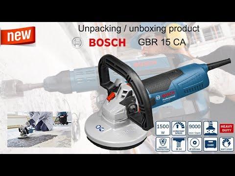 Unpacking / Unboxing Concrete Grinder Bosch GBR 15 CA 0601776000