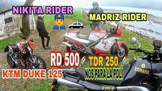 YAMAHA RD 500🚀 TDR 250 Y KTM 125 DUKE. Madriz y Nikita rider en Zarautz