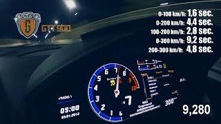 0-100 km/h: 1.6 sec. 0-200 km/h: 4.4 sec. 100-200 km/h: 2.8 sec. 0-...