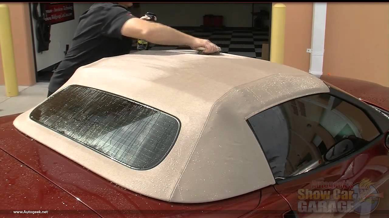 Mike Phillips Demonstrates How To Properly Protect Your Canvas Or Vinyl Convertible Top