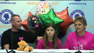 Raw: Girl Who Survived Rare Infection to Go Home
