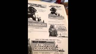 1970 WALT DISNEY PRODUCTION KING OF THE GRIZZLIES PRESS BOOK