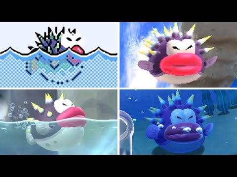 Evolution Of - Porcupuffer In Super Mario Games