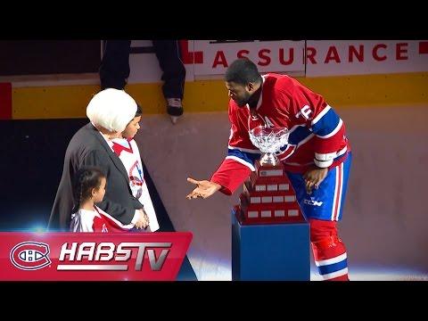 CÉRÉMONIE | P.K. Subban honoré du trophée Jean-Béliveau