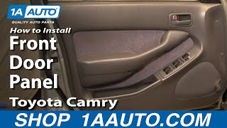 How To Install Replace Front Door Panel Toyota Camry 92-96 1AAuto.com