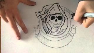 DRAWING Sons Of Anarchy time lapse