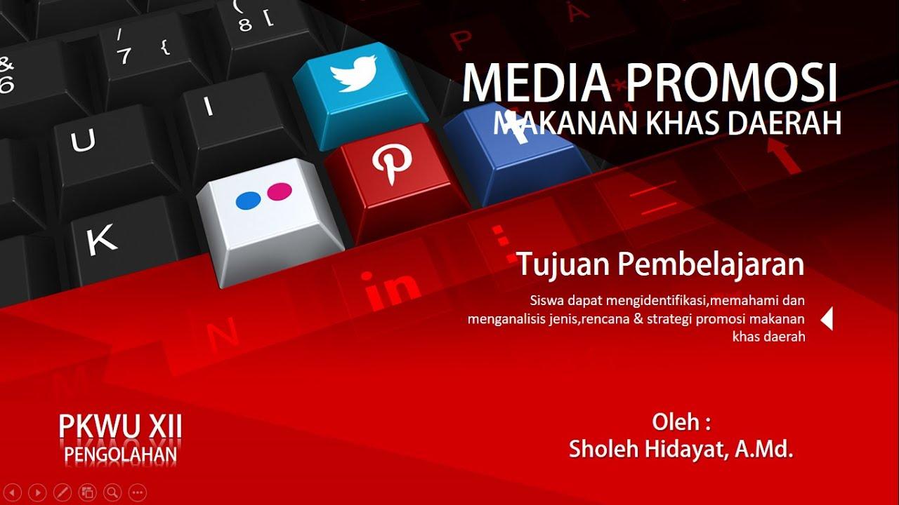 Pkwu Xii Media Promosi Makanan Khas Daerah Youtube