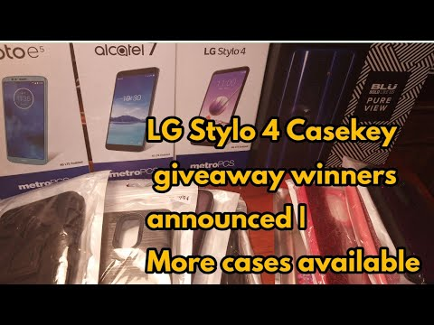 Winner's for the LG STYLO 4 cases from Casekey
