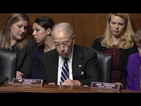 Grassley Statement at Hearing on Nominations for Circuit Courts and Federal Claims Court