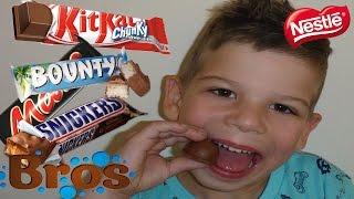TOP 10 NESTLE CHOCOLAATJES PROEVEN!!!