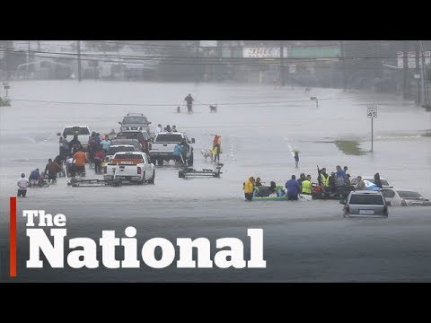 Floodwaters force thousands from homes in Hurricane Harvey's wake