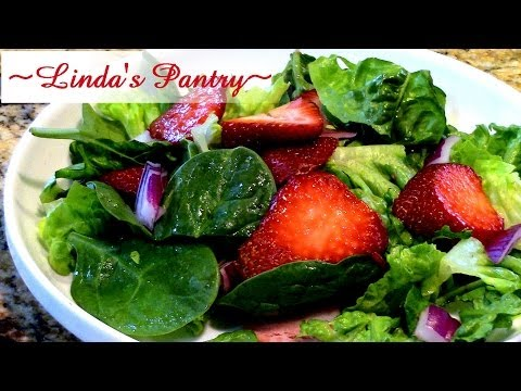 ~Strawberry Basil Vinaigrette & A Spring Salad With Linda's Pantry~