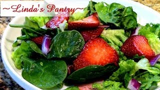 ~strawberry Basil Vinaigrette & A Spring Salad With Linda's Pantry~