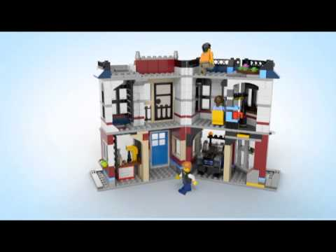 Lego Creator | 31026 | Bike Shop and Cafe | Lego 3D Review