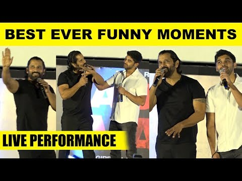 Like Father Like Son! - Vikram, Dhruv's Best Ever Funny Moments! | Adithya Varma Audio Launch