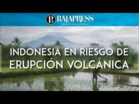 Alerta máxima de erupción del Monte Agung en Bali