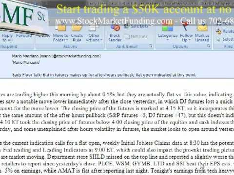Pre-Market Stock Futures Set to Open Flat DJIA Futures Pair Losses MFE, INTC, HGSI