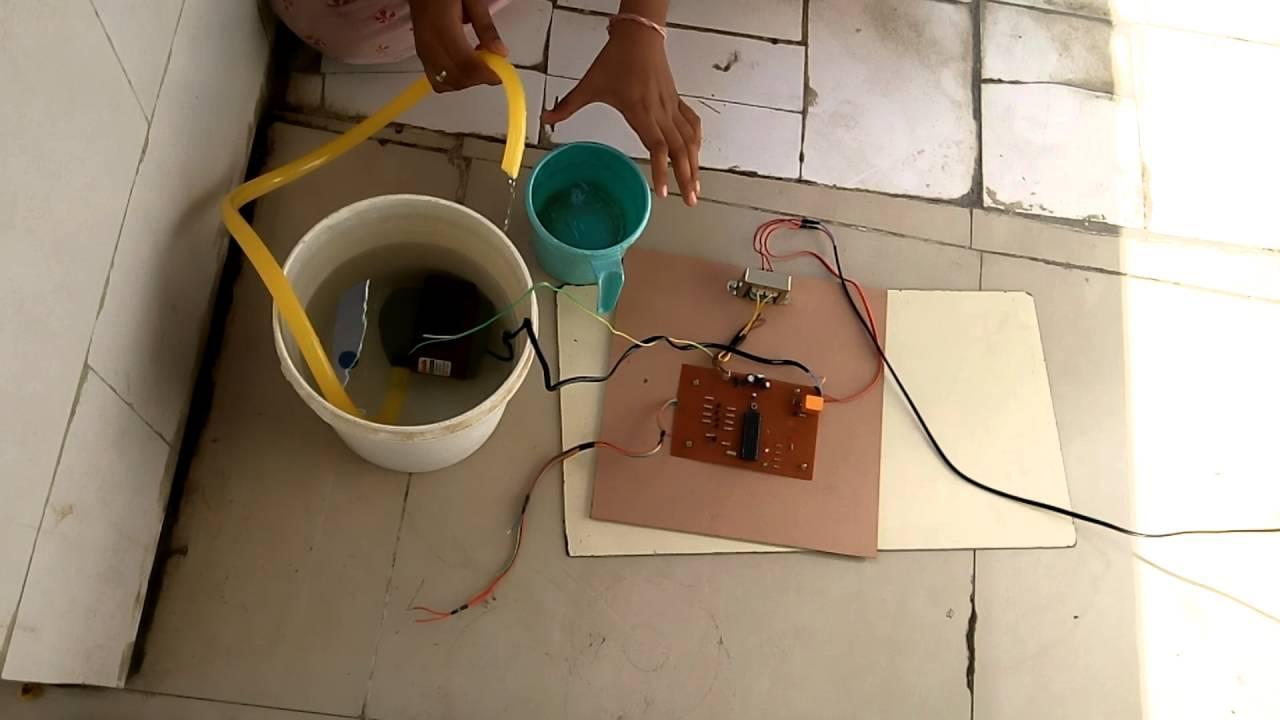 Water Level Controller Using 8051 Microcontroller Tank Overflow Alarm Circuit Diagram Engineersgarage Project List Pic