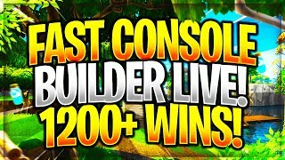 Really Fast Console Builder, Fortnite Battle Royale 1300+ Wins! @Tzbl_