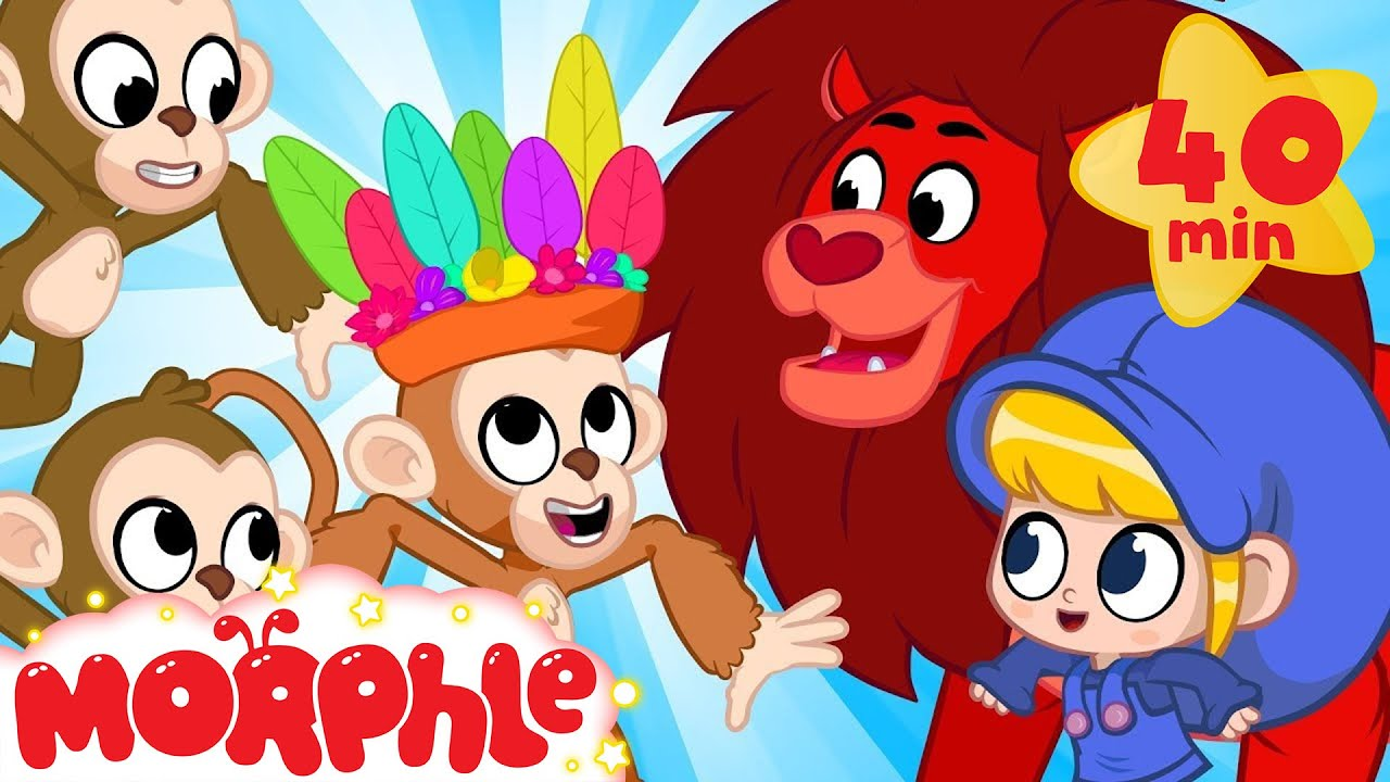 Morphle Visits The Jungle!! - My Magic Pet Morphle | Cartoons For Kids | Morphle TV | BRAND NEW
